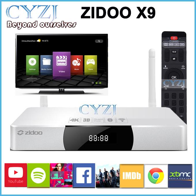 Телеприставка ZIDOO X 9 MSTAR Android 2 8G ROM 802.11ac WIFI 7.1 Passthrough Bluetooth 4 K h.265 usb3.0 X9 zidoo x6 pro 4k2k h265 smart android 51