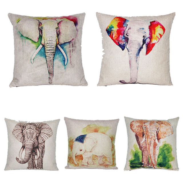European Decorative Pillows : European Elephant Cushion Home Car Throw Pillows New Arrivel Brand Cushions Funda Cojines ...