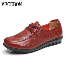 2017 Women Genuine Leather Shoes Handmade Casual Women Flat Shoes Loafers Moccasin Comfortable Soft Creeper Women Shoes 888W(China (Mainland))