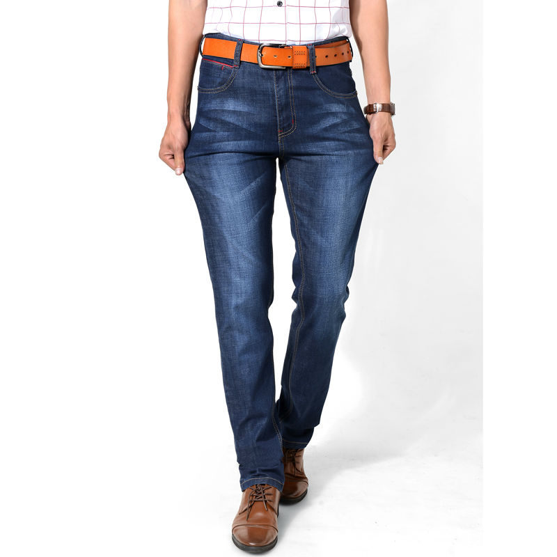 Free Shipping Spring and Autumn Men's Jeans Pants Water Washed White denim Long pants Classic Male Solid Straight trousers Long(China (Mainland))