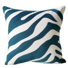Embroidery Cotton Stripe Pillow Case Cushion