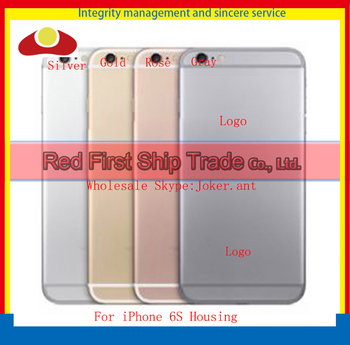 High Quality Replacement 4.7' For IPhone 6S Back Cover Housing Battery Cover Door Rear Cover Body Silver Gray Rose Gold and Gold