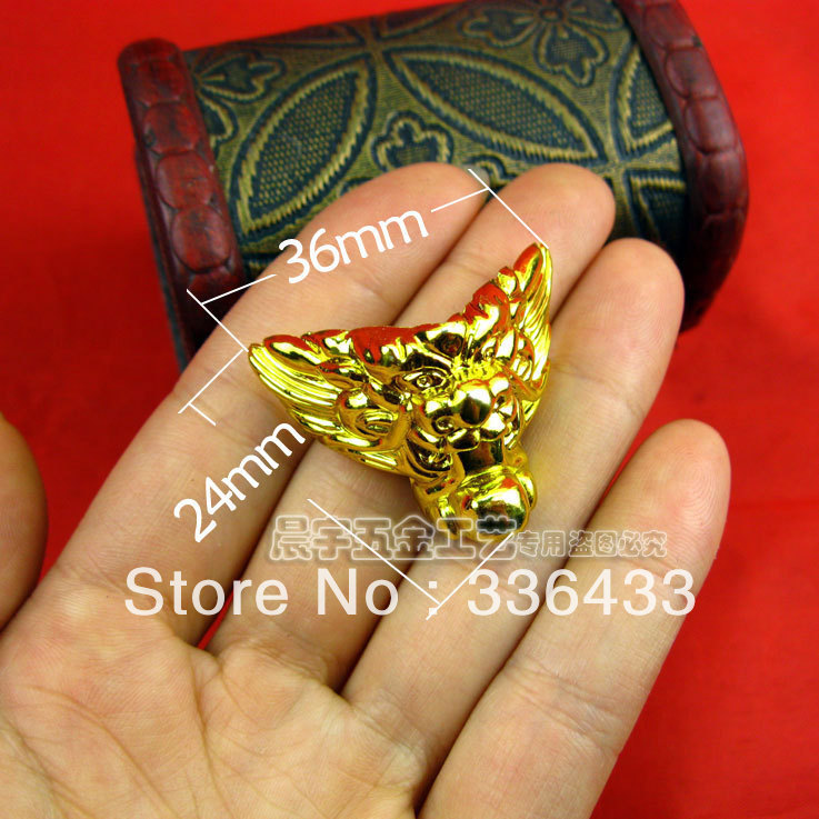 C026 plastic faucet foot / wooden foot / Foot Wine sides Hardware / DIY Jewelry Accessories / corners tiger feet(China (Mainland))
