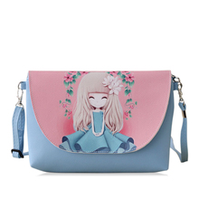 2016 New Cartoon printing Women bag Female PU leather Mini Crossbody Shoulder bags Girls Messenger bag bolsa feminina B075(China (Mainland))