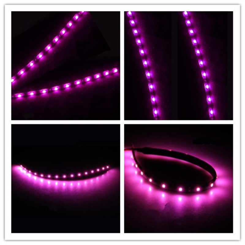 Drl Automobiles 8Pcs 15 LED 30cm Car Motor Vehicle Truck Flexible Waterproof Strip Light Purple Audia(China (Mainland))