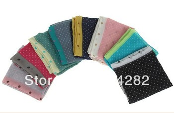 2013 new printe polka dot  women shawls fashion long autum viscose hijab head popular scarves 180*75cm 10pcs/lot