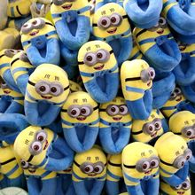 Ciabatte Minions Despicable Me Animal Women Men Minion Plush Slippers Home Indoor Winter Adult Shoes Pantufa Pantoffels(China (Mainland))