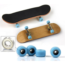 Professional Wood Finger Skateboard Toys  Alloy Stent Bearing Finger Bikes Wheel Fingerboard  Boys Novelty Toy juguetes skate(China (Mainland))