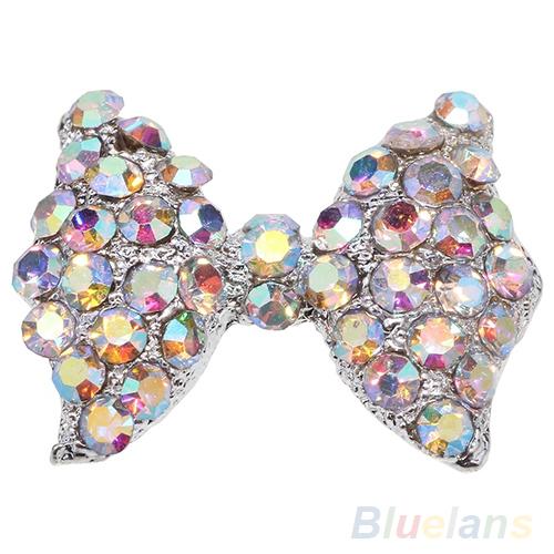 10 pcs DIY 3D Alloy Rhinestone bow tie Nail Art tip Glitter Decoration  031P<br><br>Aliexpress