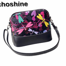 2016 hot sale Special design Women beautiful accessories Printing Shoulder Bag PU Leather Purse Satchel Messenger Bag wholesale(China (Mainland))