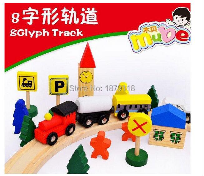 Little Model Cars wooden puzzle Building track Rail transit Parking Garage Diecasts Vehicles Kids Toys Thomase train poni Toy
