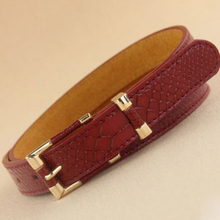 Brand New fashion Female leather belt crocodile pattern grain waistband belts for women cinto feminino Free