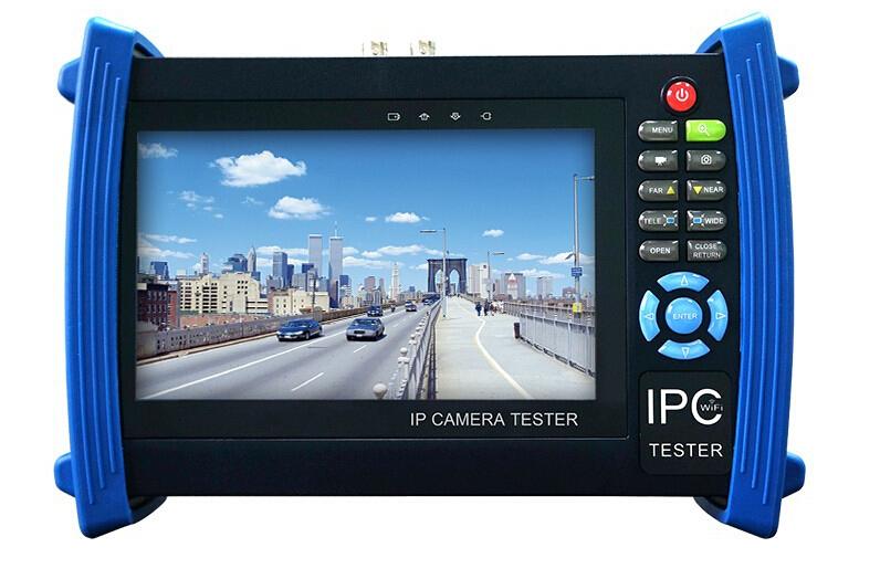 7 inch IP CCTV tester monitor IP AHD CVI TVI analog cameras onvif 1080p multimeter Visual fault locator optical fiber TDR(China (Mainland))