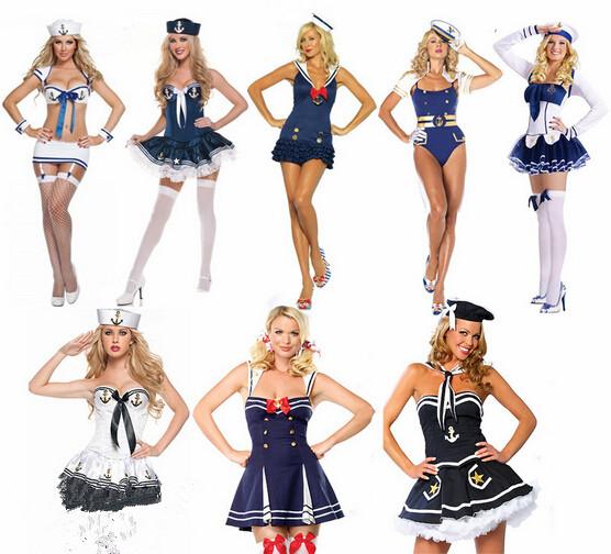 2016 Halloween cottume item for cosplay man women sexy sailor costume halloween navy costume type carnival navy girls costume(China (Mainland))