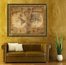 Free Shipping Feitong Vintage Style Retro Cloth Poster Globe Old World Nautical Map Gifts(China (Mainland))