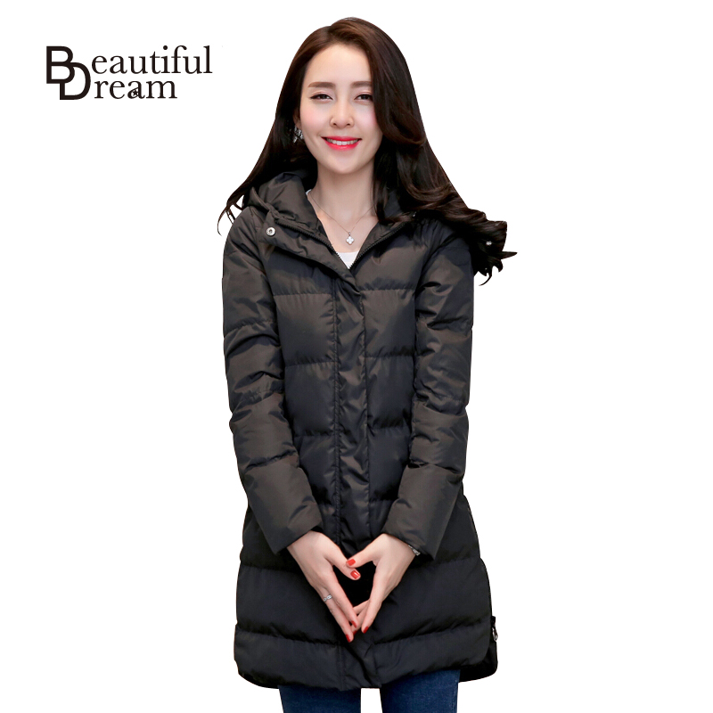 2016 Winter Jacket Women Parkas Plus Size 2XL Long Down Overcoat Winter Coat Womens Jackets And Coats Solid Female Outerwear