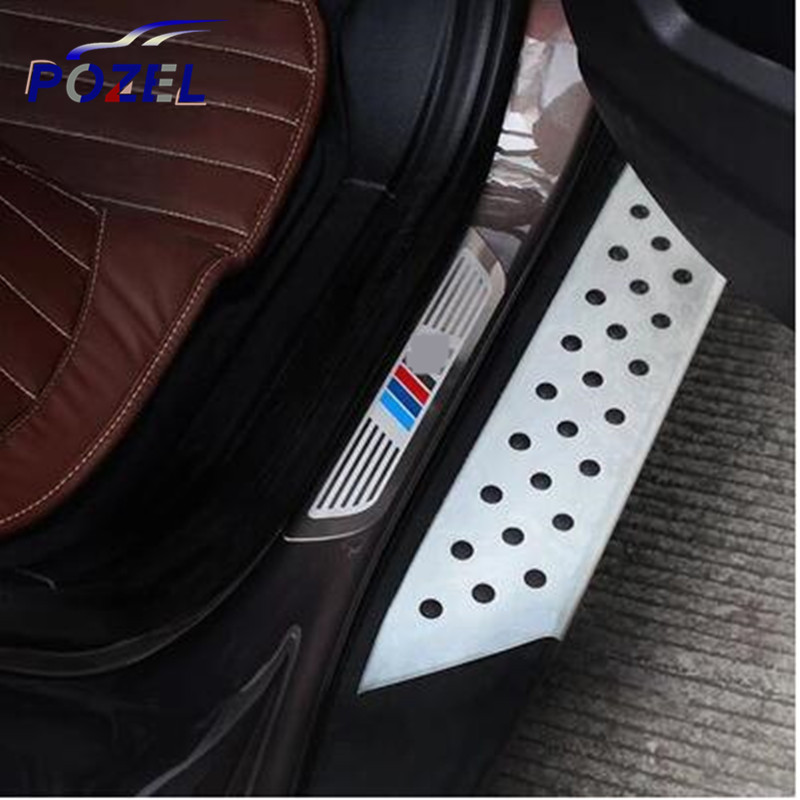 Stainless Steel Door Sill Scuff Plate Car Accessories For BMW X1 X3 X5 X6 E70 E83 E84 E72 F25 F15 E71 2008 - 2015(China (Mainland))