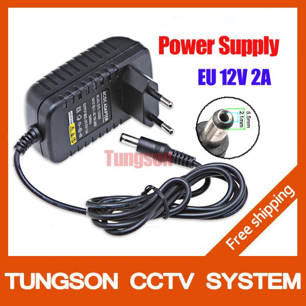 DC 12V 2A Power Supply Adaptor 12V Security professional Converter EU US AU Adapter For CCTV Camera System Free shipping(China (Mainland))