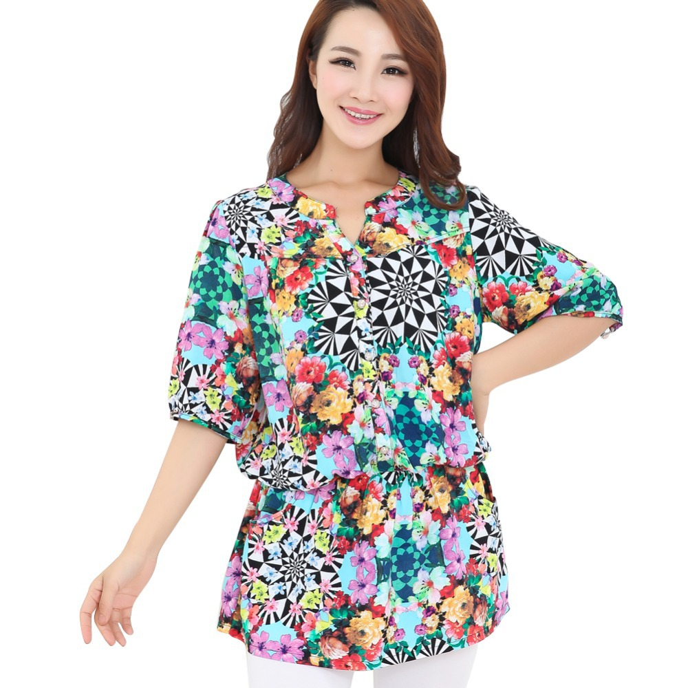 2015 Popular Style Colorful Floral Design Women Fashion ...