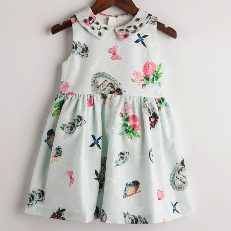 Girls Clothes New Brand Girl Dress Princess Party Autumn Winter Dresses Kids Clothing for Baby Girls Dress(China (Mainland))