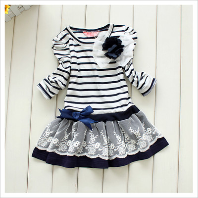 2015 Free shipping 2013 Girls Princess Dress WHM(China (Mainland))