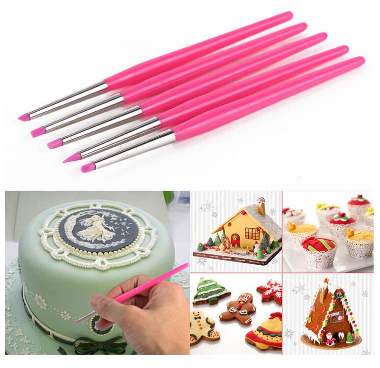 Silicone Brush Decorating Pen Sugar craft tool cake decorating tools styling tools transport tools fondant(China (Mainland))