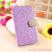 Buy Fashion Bling Glitter Flip Case Cover LG L70 L65 D325 MS323 D329 D320N D285 D280 L 70 65 Mobile Phone Case Card Slot for $2.67 in AliExpress store