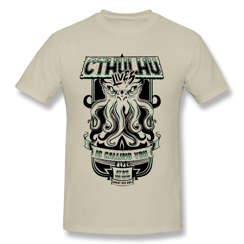 Shirt Men Cthulhu Custom Cool Quotes Men T Shirts Unique