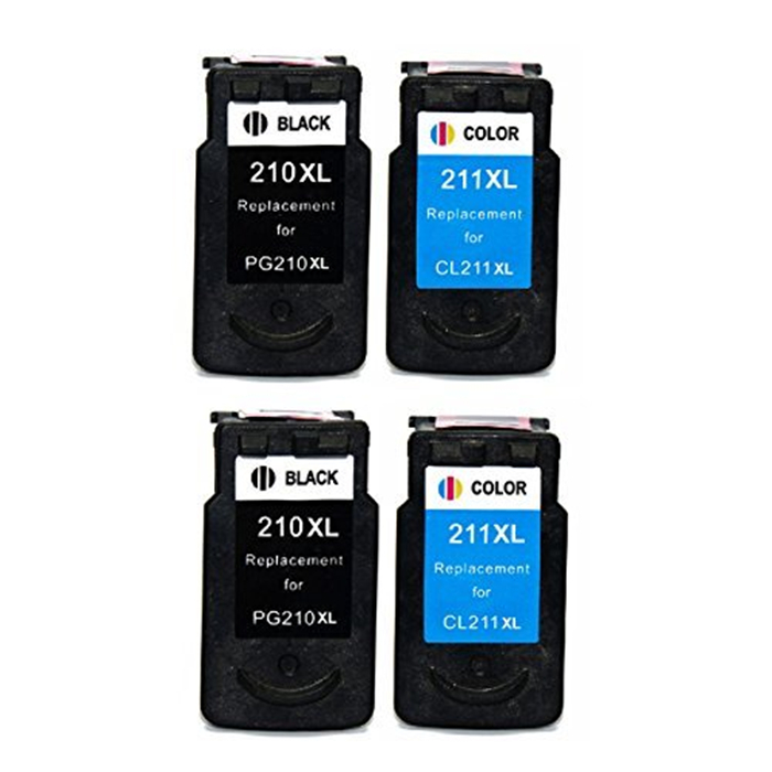4Pk (2BK+2CL) PG-210 CL-211 Compatible for canon 210 211 ink cartridge for Canon PIXMA MX350 MX410 MX420 MP480 MP490 <br><br>Aliexpress
