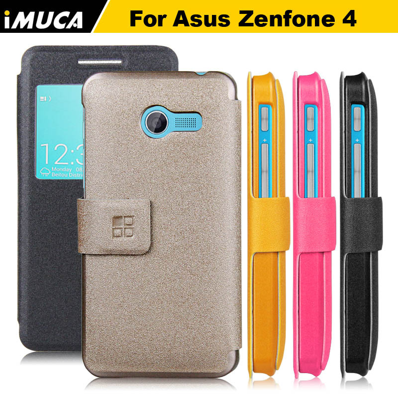 2016 New IMUCA original brand luxury case cover wallet for ASUS Zenfone 4 phone cases covers leather flip W/ Retail package(China (Mainland))