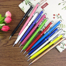10000pcs Bullet mini metal capacitive touch pen stylus screen for phone tablet laptop built-in ballpoint pen 2 in 1 for meeting(China (Mainland))