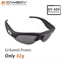 mini camera 720P140 Degree Wide Angle Lens UV400 protection Lightweight micro camara sunglasses camera