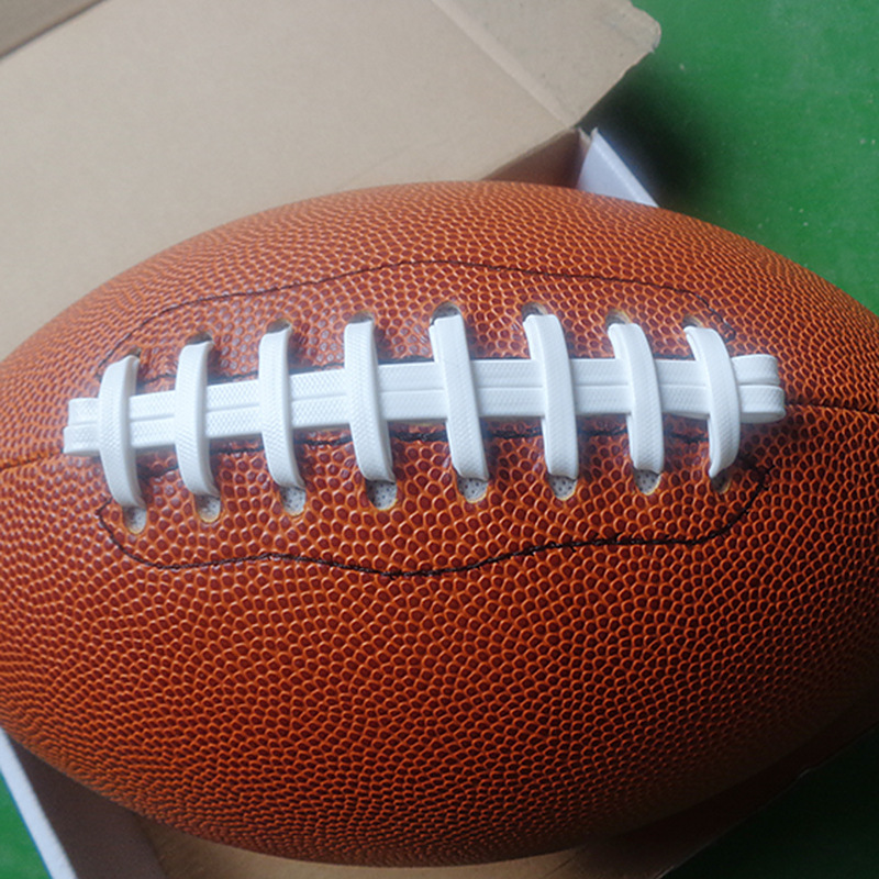 Sewing Machine White Rope Orange Inflatable PVC Americano Adult Size 9 American Match Training Rugby Ball(China (Mainland))