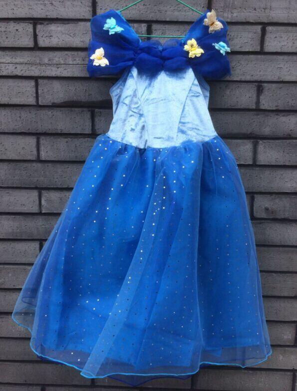 10 pcs cute girls dress queen of snow Dress girl baby Cartoon Costume Fancy Dress for wedding(China (Mainland))