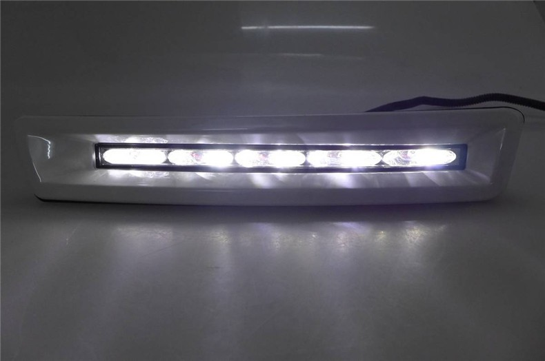 A&T car styling For Toyota Verso LED DRL For Verso led fog lamps daytime running light High brightness guide LED DRL