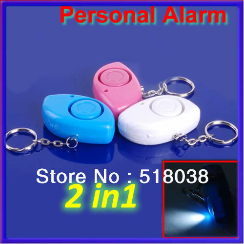 P80 Free shipping 3pcs/lot Mini Personal 120dB Security Siren Alarm Light Keychain(China (Mainland))