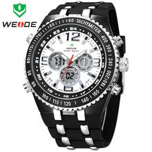 Mens relojes deportivos WEIDE multifunción alarma fecha día Digital escalada ver nadar buceo reloj 30 M impermeable reloj militar