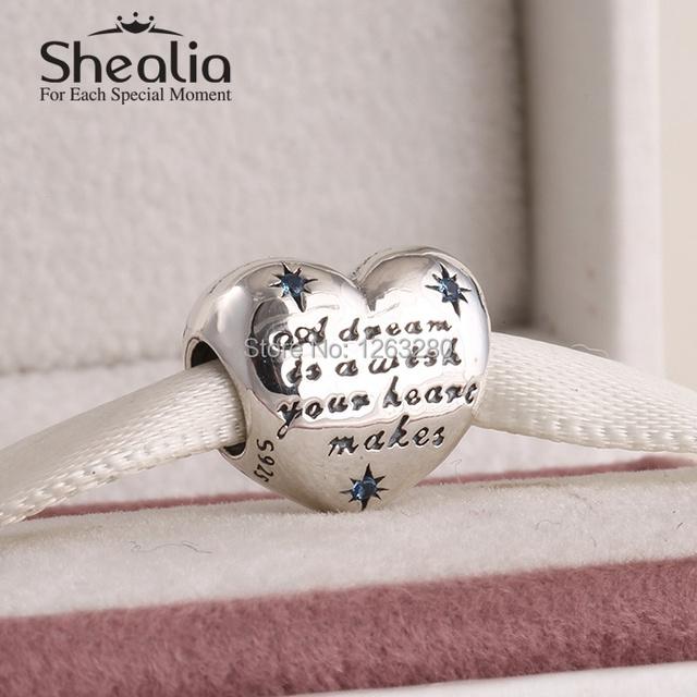 Весна 2015 новый золушка сердце подвески с камнями аутентичные стерлингового серебра 925 изящных ювелирных изделий для женщин браслеты diy SH0649
