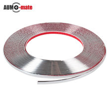 13m DIY Car Styling Door Moulding Trim Automotive Car Sticker Chrome Strip 6MM 8MM 10MM 12MM 15MM 18MM 20MM 25MM 30MM(China (Mainland))