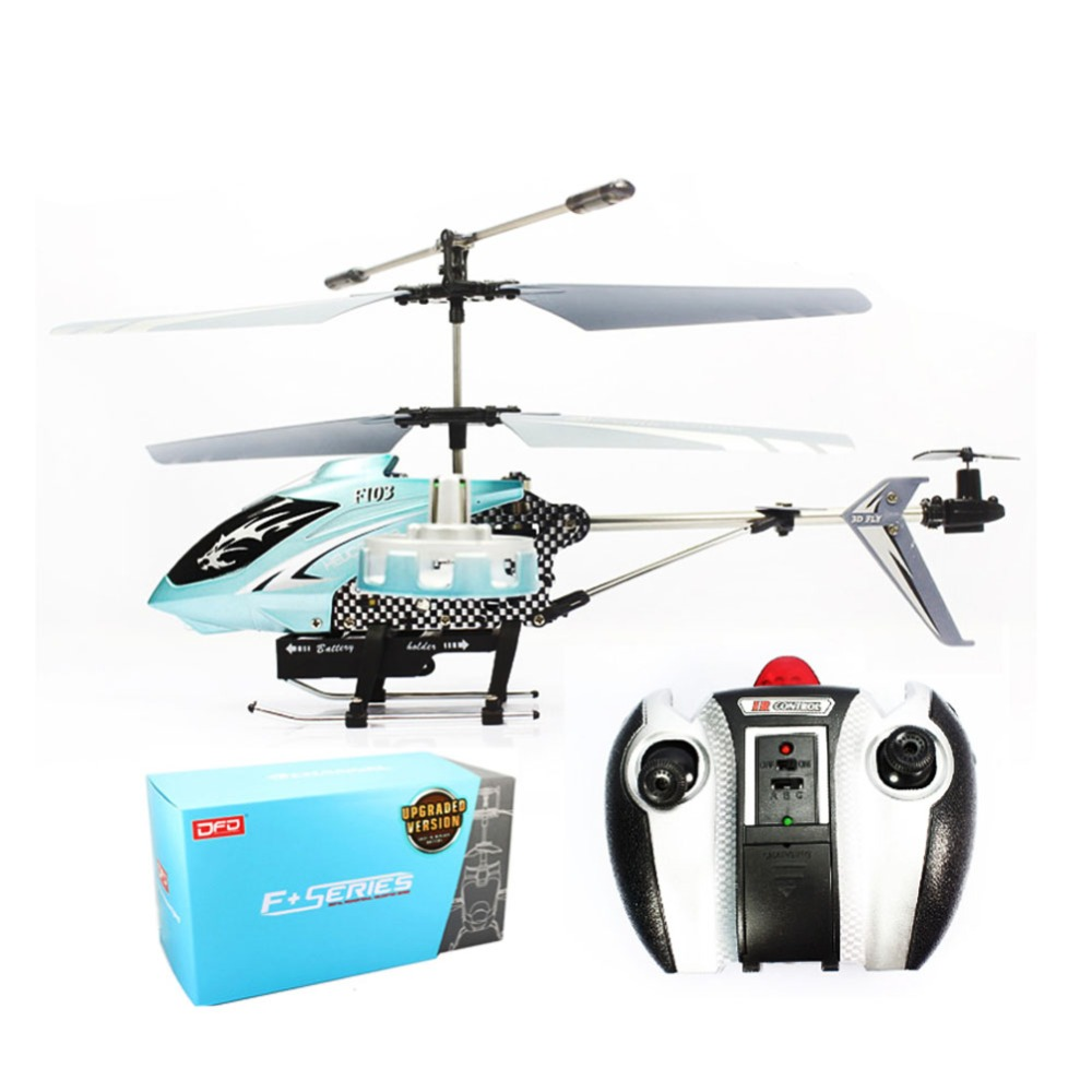High Qualtiy RC Helicopter 4 Channel Aircraft Aeromodelling Toys Metal Helicopter 4CH Gyro RTF With LED Lights F103 LB(China (Mainland))