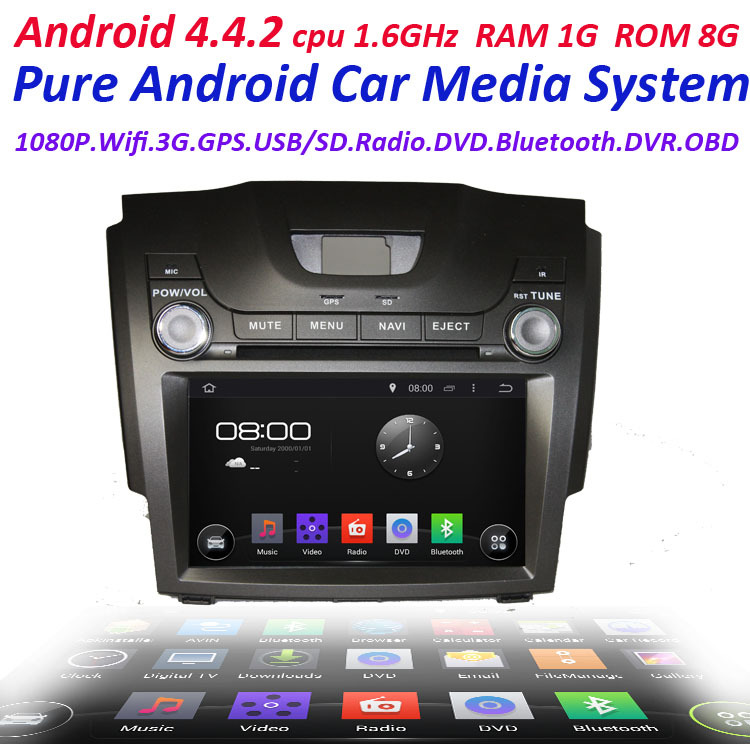 FOR CHEVROLET S10 2013 pure Android 4.4 2 Din Car GPS navigation with WIFI 3G Capacitive screen bluetooth canbus ipod(China (Mainland))
