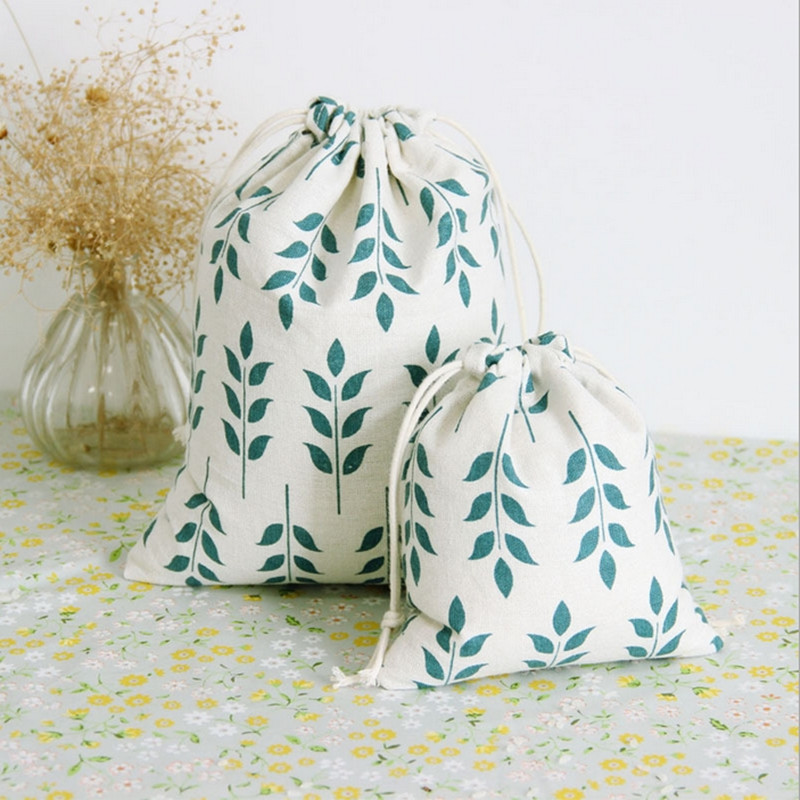 Cotton and linen storage bag Grain pattern Storage Bag for Sundries /Retro Draw Cord Small Bags for Girls as Gifts Q151(China (Mainland))