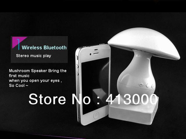Original portable speaker Touch Sensor Mushroom speaker wireless bluetooth sound LED Table Lamp Light support 8 GB TF Card