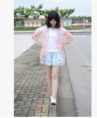 2015 Summer Women New Jackets Long Sleeve Hooded Collar Cartoon Cotton Loose Zipper Wide Waisted Japanese Mori Girl Hot Sale(China (Mainland))