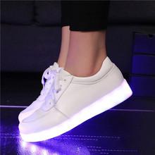 FREE SHIPPING Luminous Basket Glow bambas tenis Led Simulation Trainer flash Neon Shoe with Light up for Adult Feminino(China (Mainland))