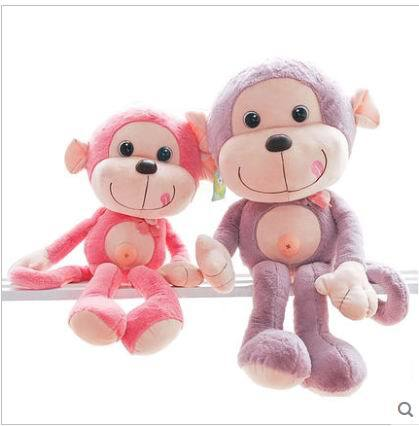 Free shipping 55cm. 70cm.90cm Naughty monkey doll plush toys Cute monkey Chinese valentine's day gift a girl(China (Mainland))