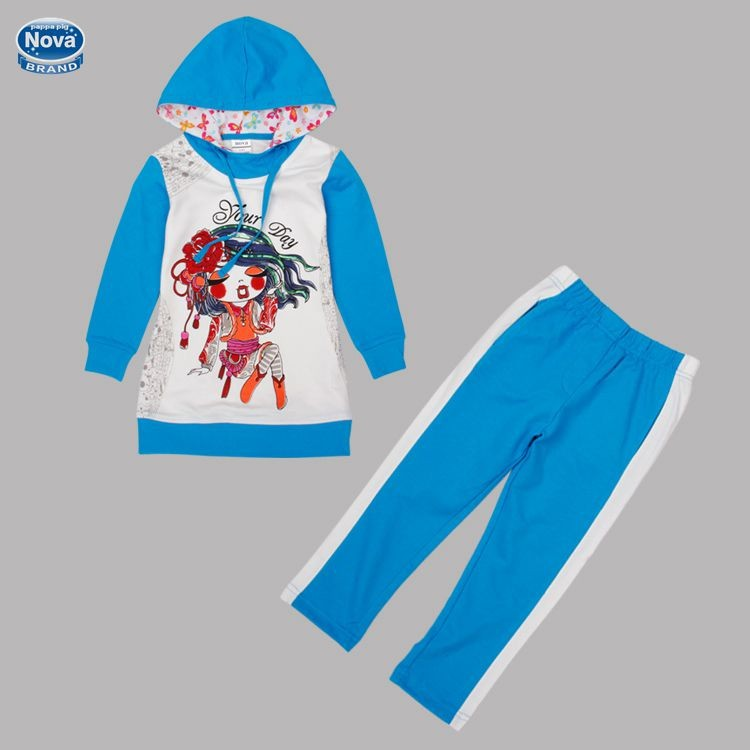 NOVA brand new 2014 cotton girl summer spring clothes costumes kids baby girls cute brief clothing sets child FG4635