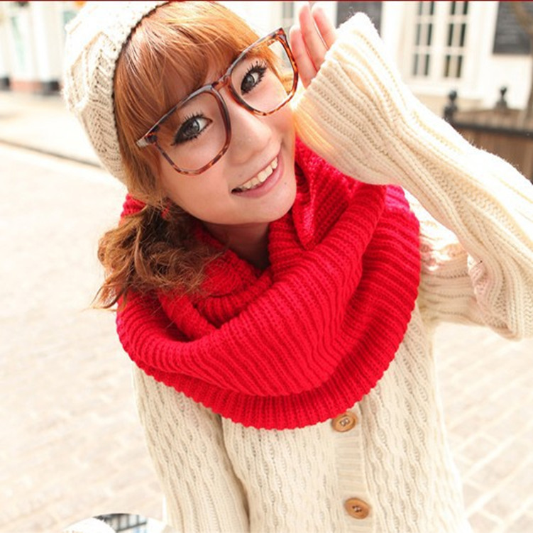 2014 Fashion Unisex Solid Women Scarfs 8 Colors Winter Cotton Men Shawls Ring s W118 - Yu BeautyIng Industry Co.,Ltd. store
