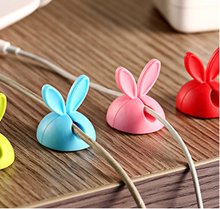 Rabbit ears data line fixed device silica gel cable winder desktop viscose electrical wire winding device wholesale 4X
