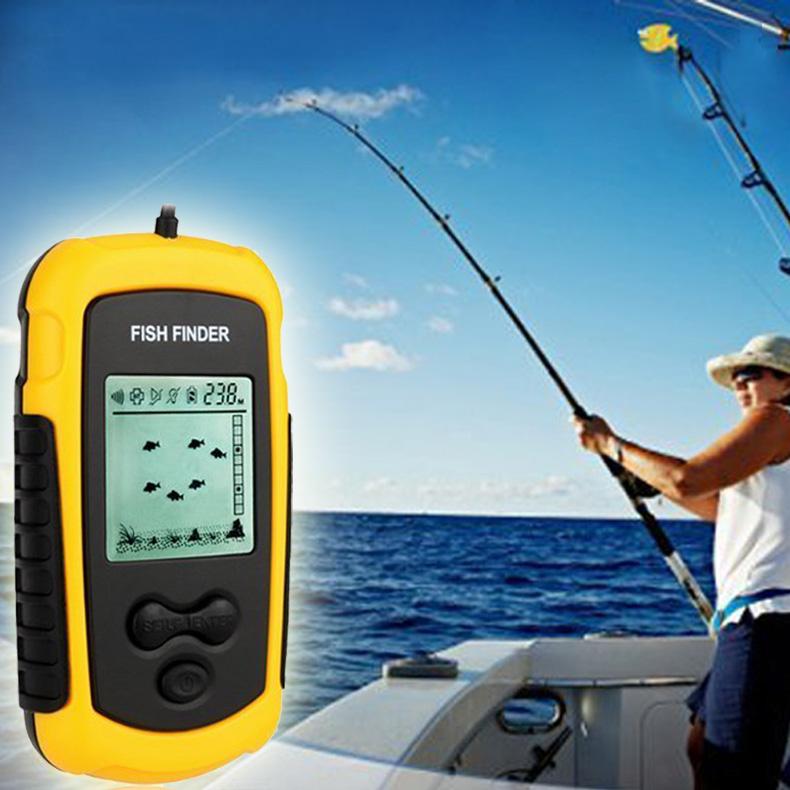 Portable Wired LCD Display Alarm Transducer Sonar Sensor Fish Finder Round Fishfinder B2C Shop(China (Mainland))